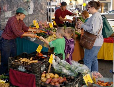 Visit the Farmers Market every Tuesday from 11:00 to 4:00